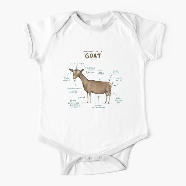 Anatomy of a Goat Short Sleeve Baby One-Piece