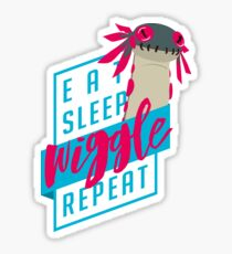 Pegatina Comer. Dormir. MENEAR. Repetir. - Diseño de Monster Hunter