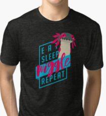Eat. Sleep. WIGGLE. Repeat. - Monster Hunter Design Tri-blend T-Shirt