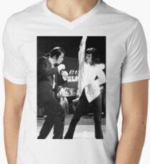 Camiseta para hombre de cuello en v PULP FICTION DANCE