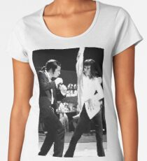 Camiseta premium de cuello ancho PULP FICTION DANCE