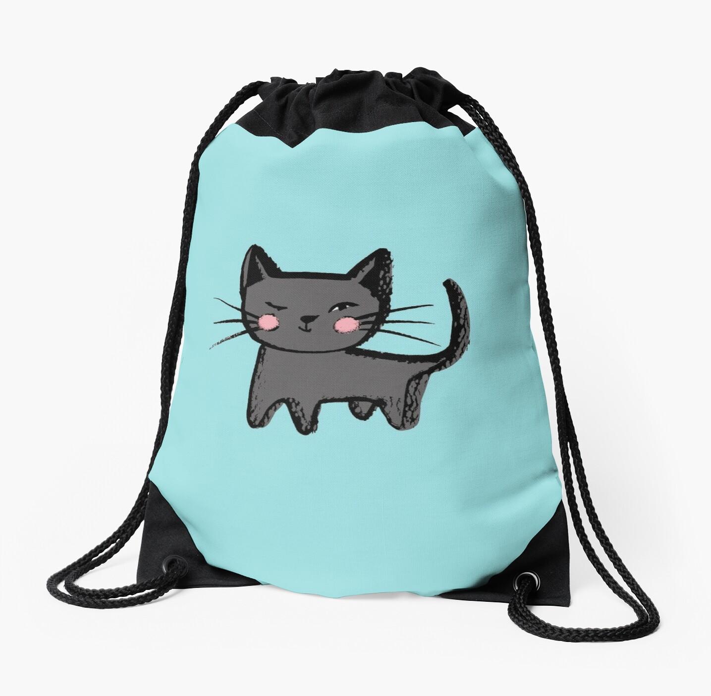 Kitty Wink Print Design Backpack