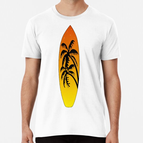 Surfboard Palm Trees (Sunset) Premium T-Shirt
