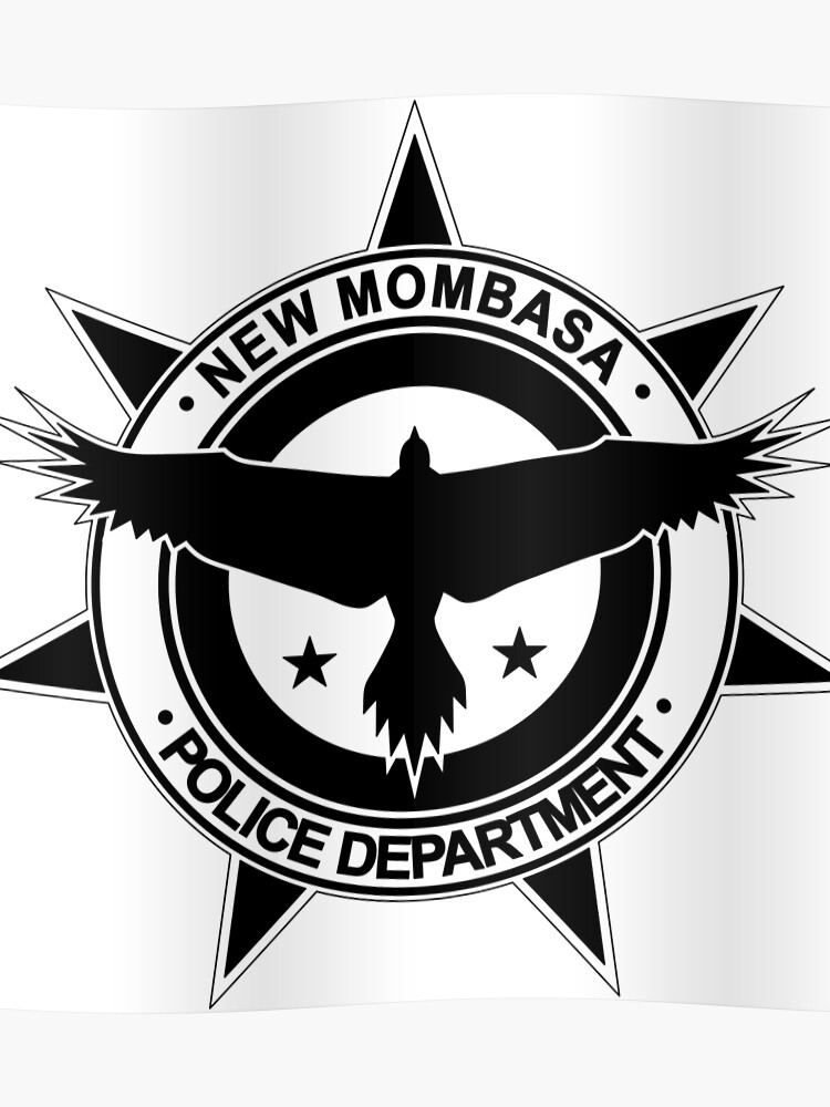 Halo, New Mombasa Police Department logo | Poster
