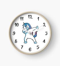 Dabbing Unicorn  Clock