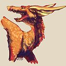 Dragon drawn in class by Astyrra