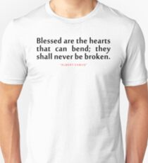 """Blessed are the...""""Albert Camus"""" Inspirational Quote Unisex T-Shirt"""
