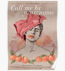Póster Call me by your name (Luca Guadagnino, 2017)