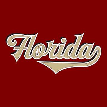 Florida State USA - Vintage Sports Typography by Urban-Zone