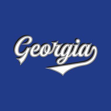 Georgia State USA - Vintage Sports Typography by Urban-Zone