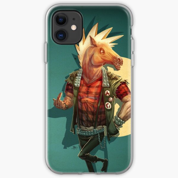 Punk Horseman iPhone Soft Case