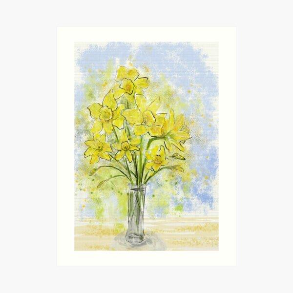Daffodils in Sunshine Yellow Art Print