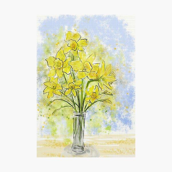 Daffodils in Sunshine Yellow Photographic Print