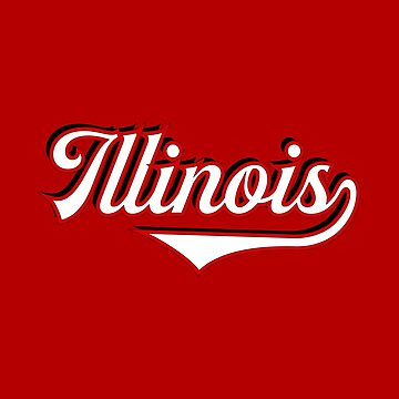 Illinois State USA - Vintage Sports Typography by Urban-Zone