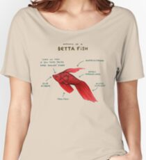 Anatomy of a Betta Fish Women's Relaxed Fit T-Shirt