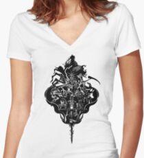 My Dark Soul Women's Fitted V-Neck T-Shirt
