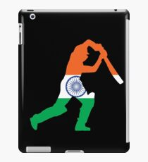 India Flag and Batsman for Cricket Team Fan iPad Case/Skin