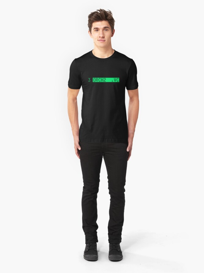 Alternate view of The Fairlight CMI's famous orchestra hit (stab): ORCH2 Slim Fit T-Shirt