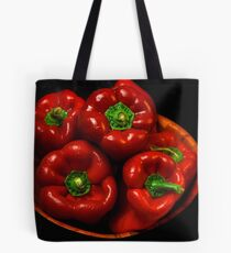 Bowl Of Red Capsicums  Tote Bag