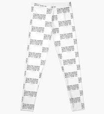 """Every time somebody...""""Albert Camus"""" Inspirational Quote Leggings"""
