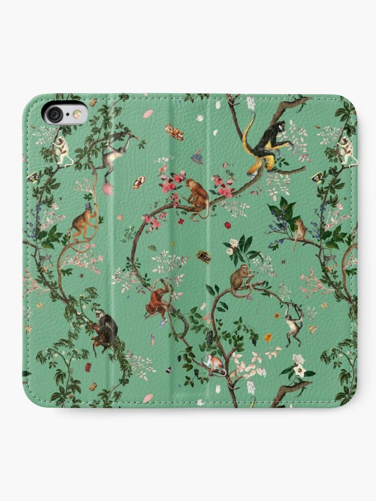 Alternate view of Monkey World Green iPhone Wallet