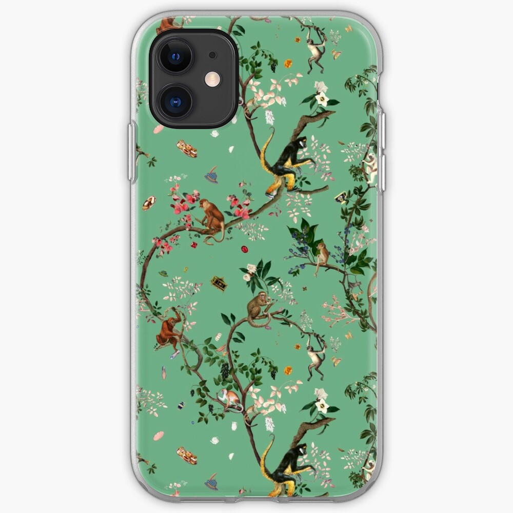 Monkey World Green iPhone Case & Cover