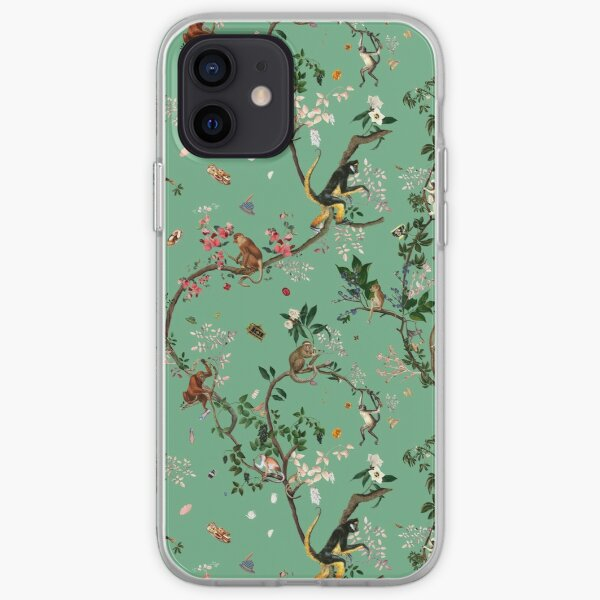 Monkey World Green iPhone Soft Case
