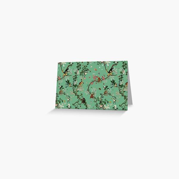 Monkey World Green Greeting Card
