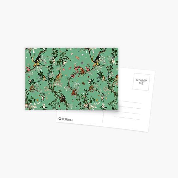 Monkey World Green Postcard