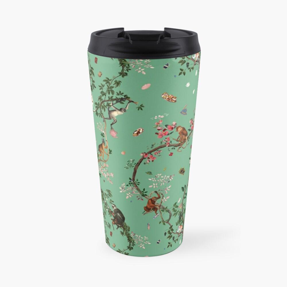 Monkey World Green Travel Mug