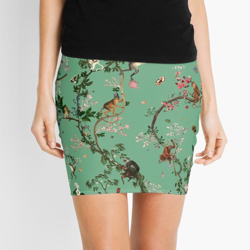 Monkey World Green Mini Skirt