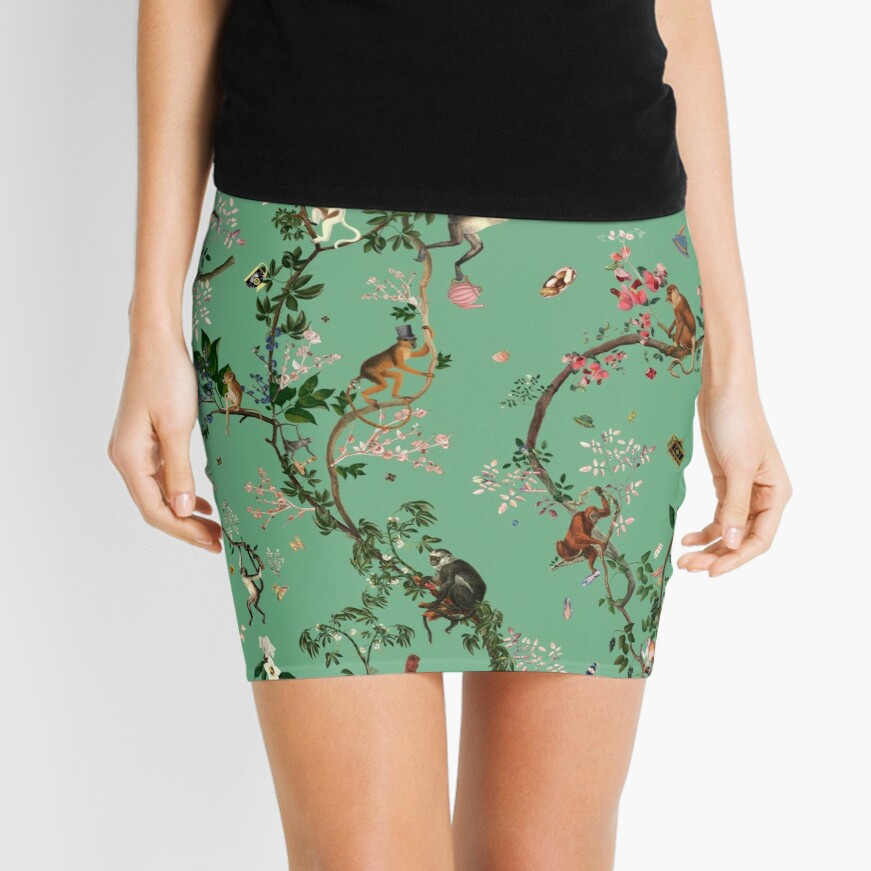 Monkey World Green Mini Skirt
