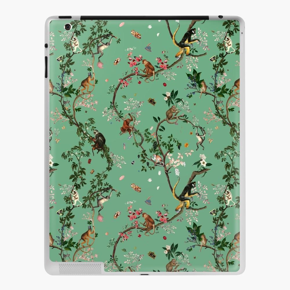 Monkey World Green iPad Case & Skin