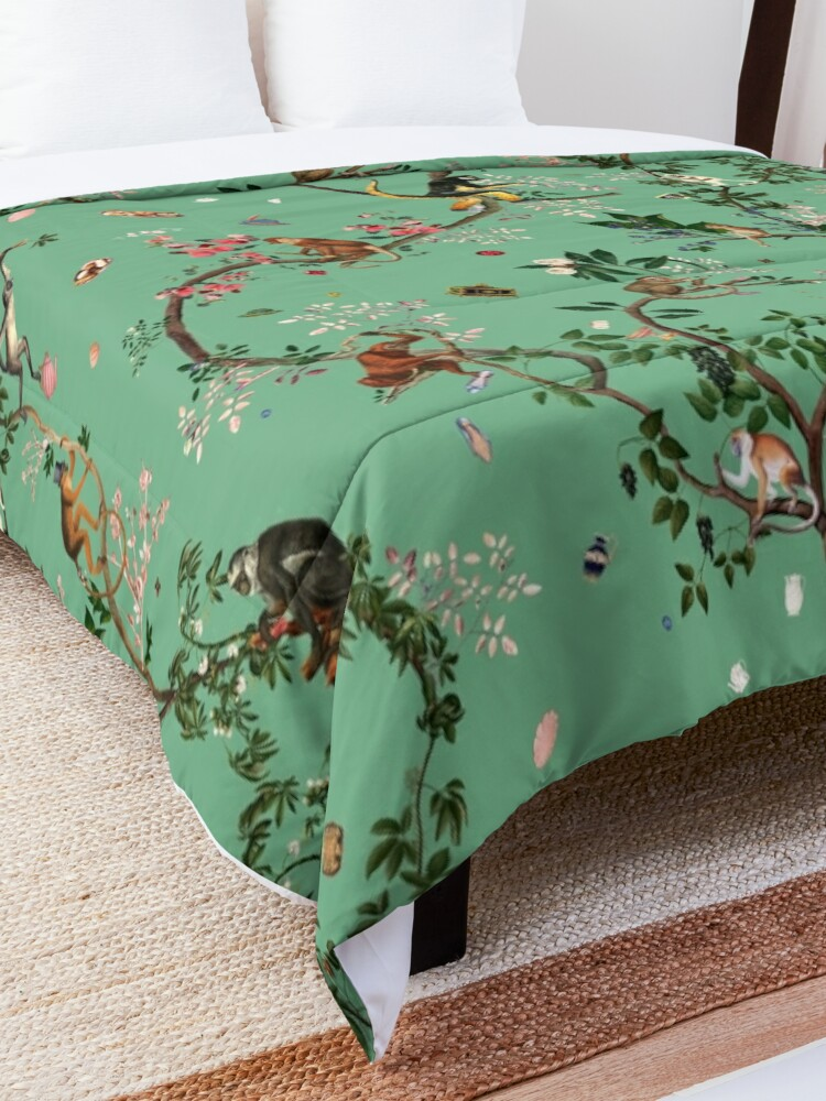 Alternate view of Monkey World Green Comforter