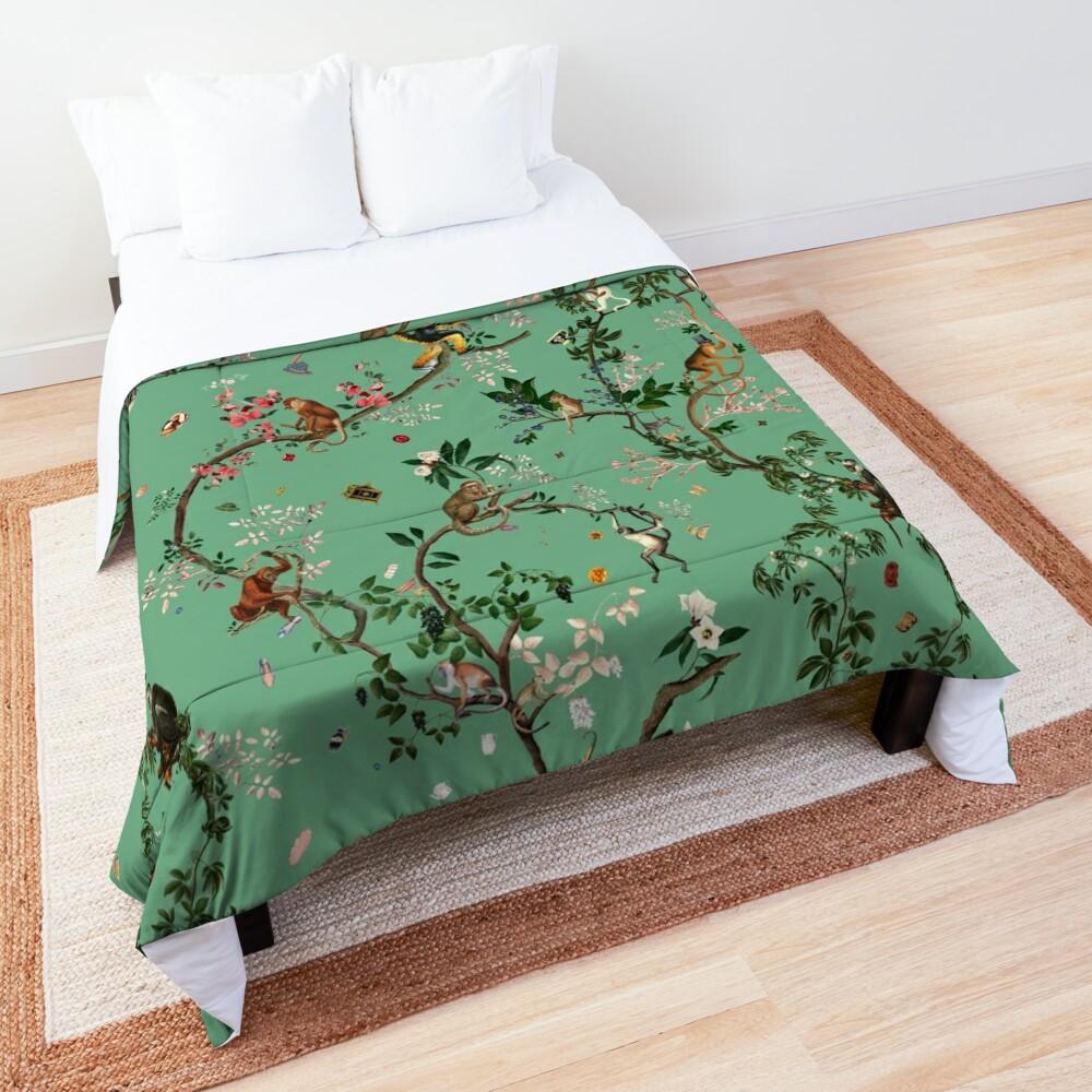 Monkey World Green Comforter