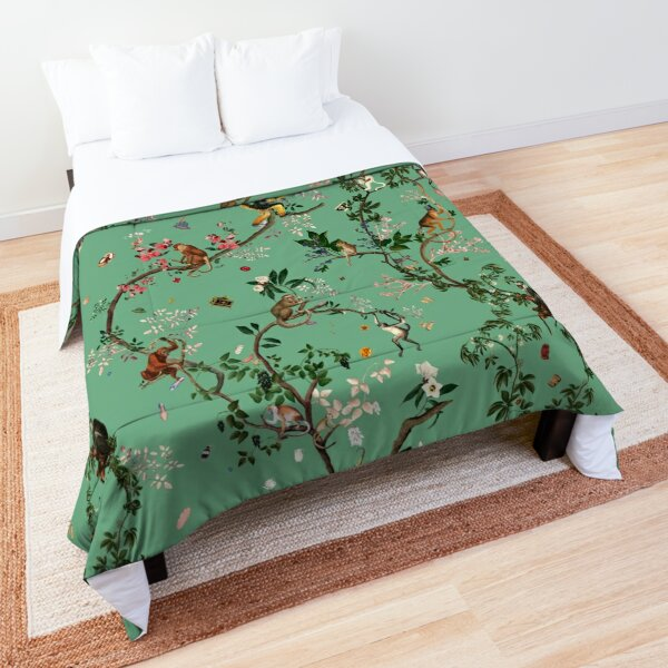 Monkey World Green Comforter