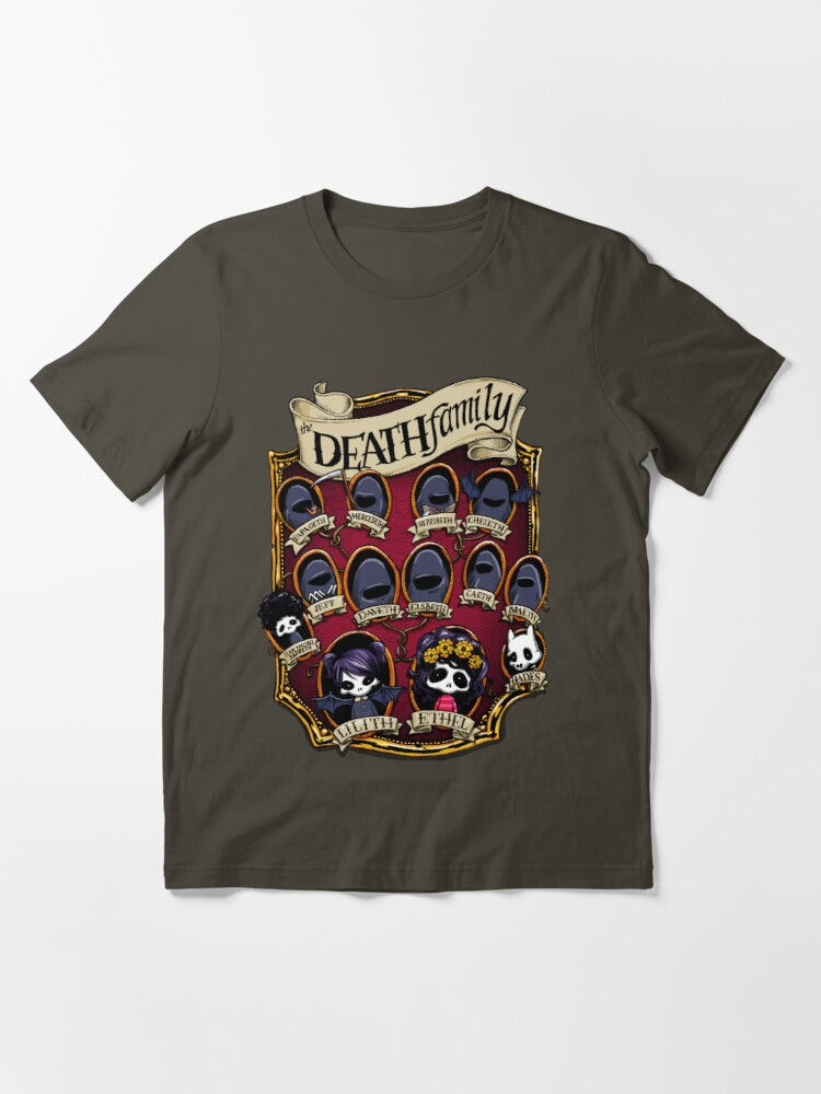 Alternate view of Death Family Tree - The Life of Ethel Death Essential T-Shirt