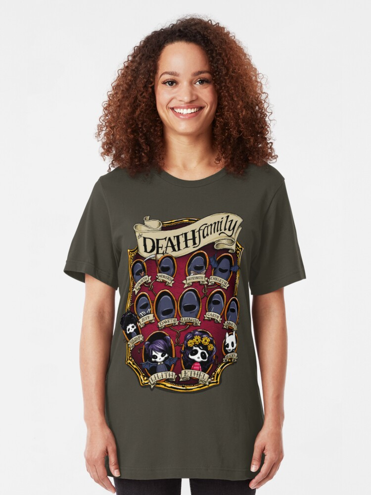 Alternate view of Death Family Tree - The Life of Ethel Death Slim Fit T-Shirt