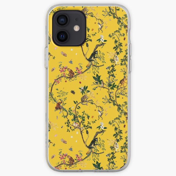 Monkey World Yellow iPhone Soft Case