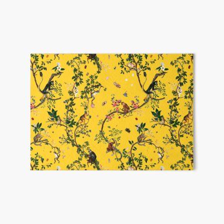 Monkey World Yellow Art Board Print