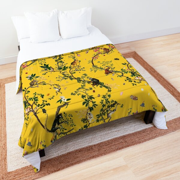 Monkey World Yellow Comforter