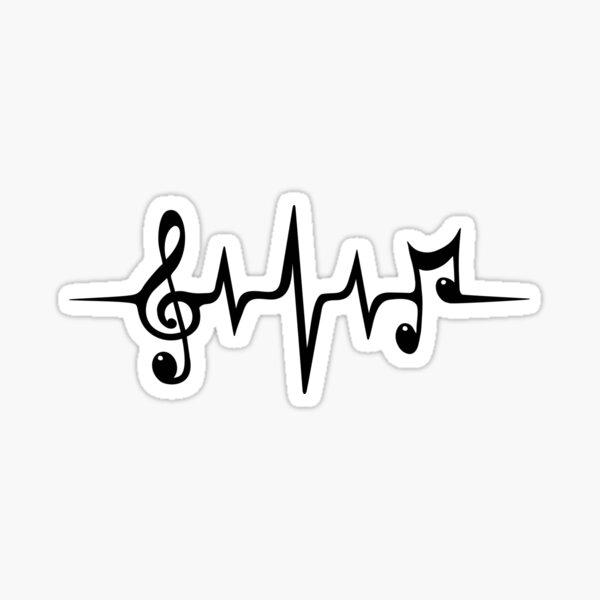 Heartbeat Music Pulse Sticker