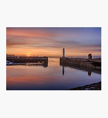 Newhaven lighthouse in the Gloaming Photographic Print