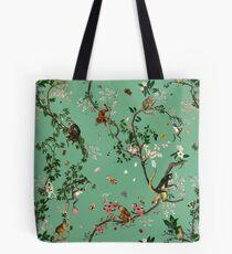 Affenwelt Grün Tote Bag