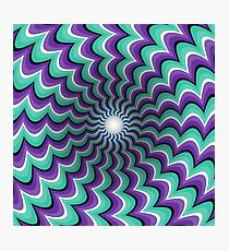 Meandering strips funnel Optical illusion Photographic Print