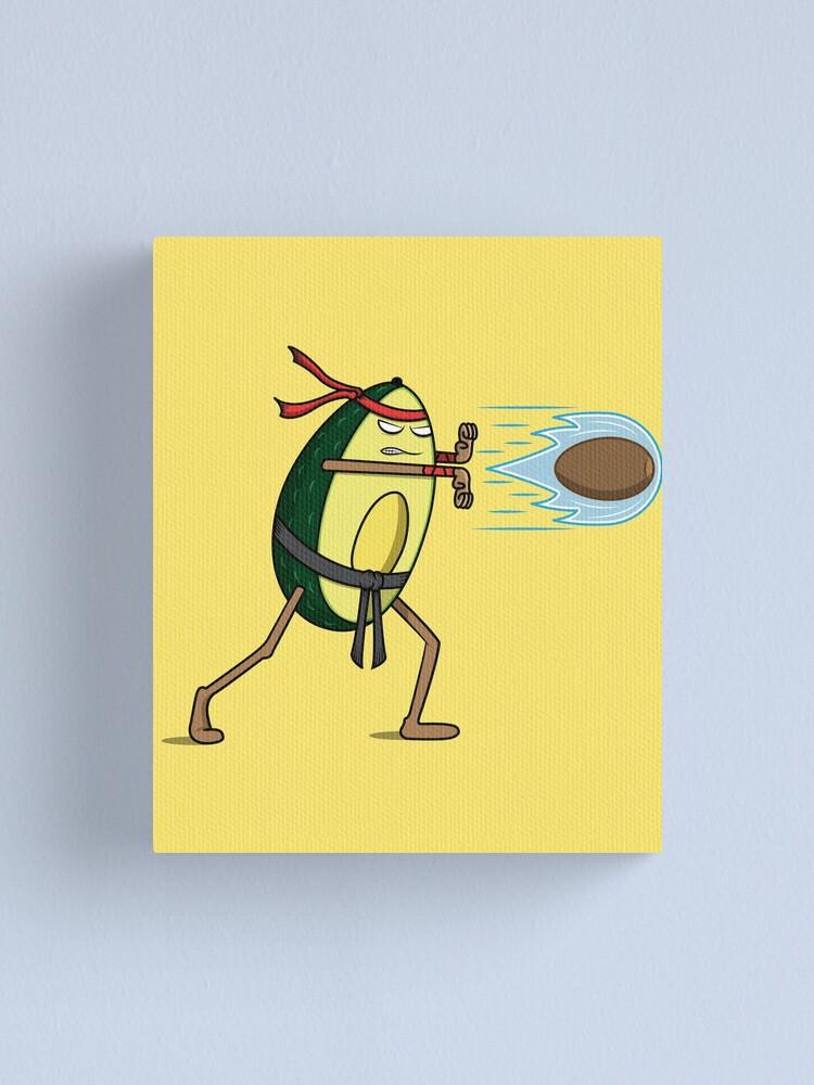 Avocado Street Fighter Hadouken Canvas Print By Petestyles