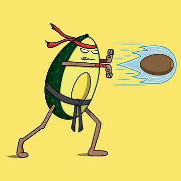 Avocado Street Fighter Hadouken by petestyles