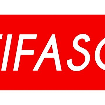 Antifascist (red background) by designite