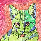 Green Cat  by Juhan Rodrik