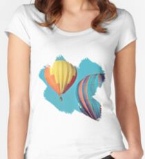 Colorful Balloons Women's Fitted Scoop T-Shirt
